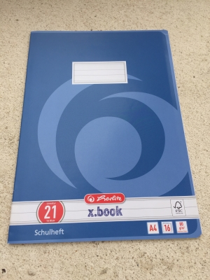 Heft DIN A4, Lineatur 21 / Cuaderno DIN A4, Lineatura 21