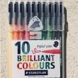 Filzstifte, 10 Farben / Rotuladores, 10 colores