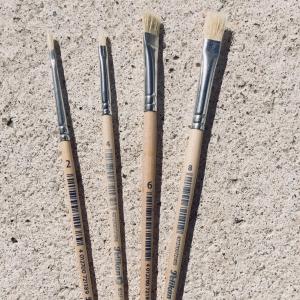Borstenpinsel dick Nr. 12 / pincel cerda No. 12