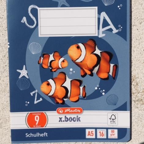 Heft DIN A5, liniert, Lineatur 9 / Cuaderno DIN A5, Lineatura 9
