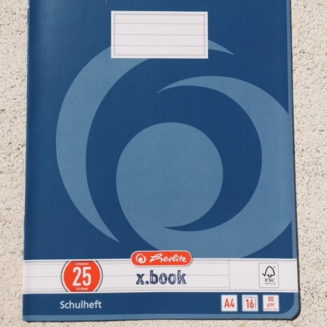 Heft Din A4, liniert, Lineatur 25 / Cuaderno DIN A4, Lineatura 25