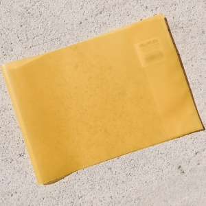 Heftumschlag DIN A5, gelb, in Querformat / Funda DIN A5, amarilla, apaisada