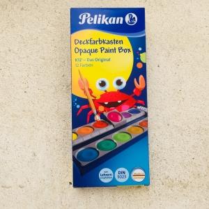 Deckfarbkasten Pelikan , 12 Farben / Acuarelas, 12 colores