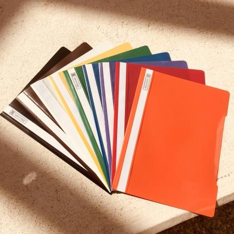 Klarsichthefter DIN A4, gelb / Carpetas fastener, amarillo
