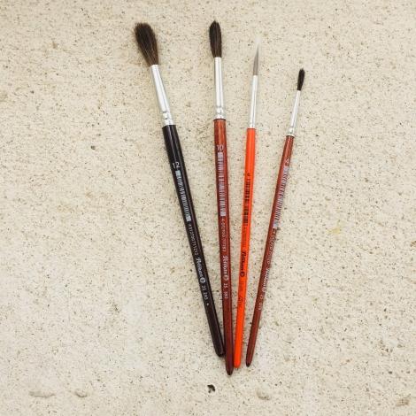 Haarpinsel duenn, Nr. 12 / Pincel pelo No. 12